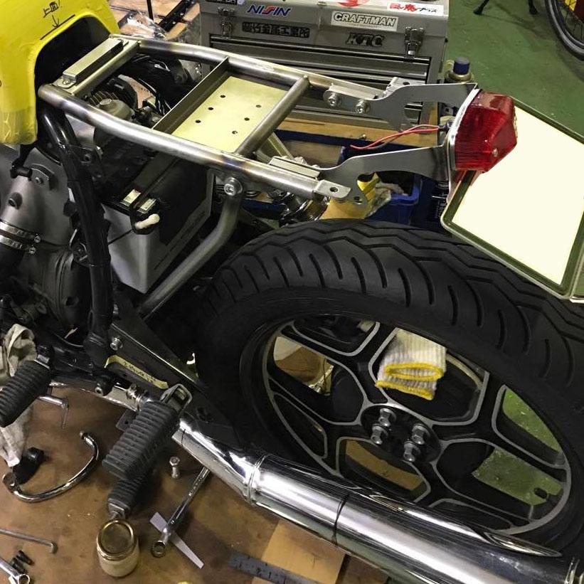 BMW R100 オリジナルサブフレーム (シートレール)製作レポートNo.3
