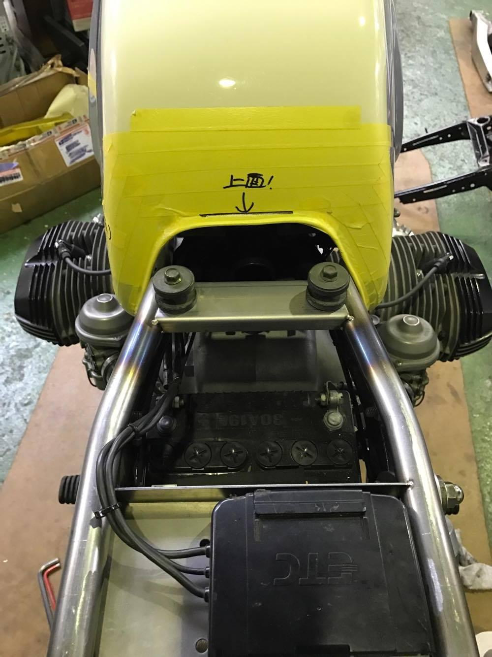 BMW R100 オリジナルサブフレーム (シートレール)製作レポートNo.2