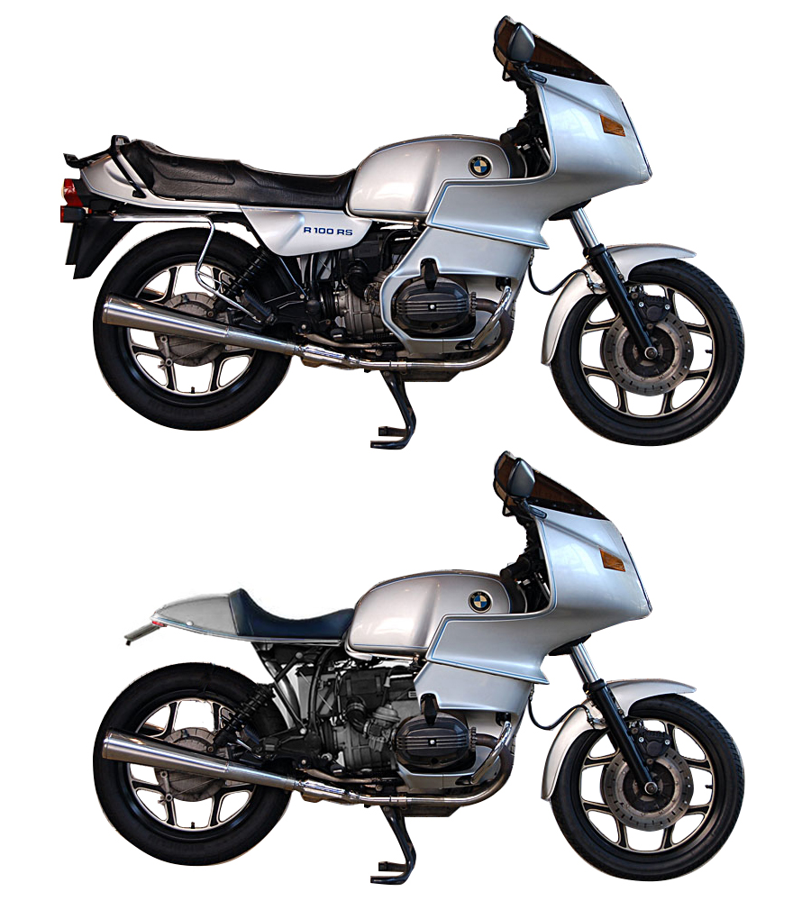 BMW R100RS モトコ シート取り付けイメージ R100 MOTOCO
