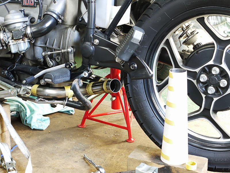 bmw r100rs 2in1 サイレンサー outloud